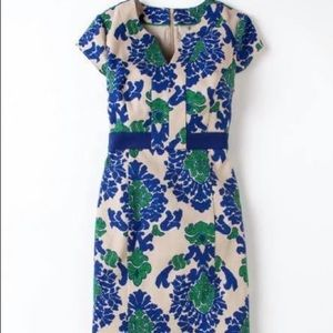 Boden Tapestry Notch Neck Shift Dress size 6R